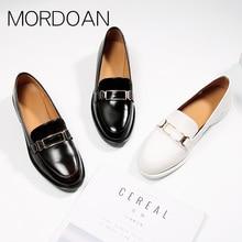 Mordoan leather shoes women's British style women's