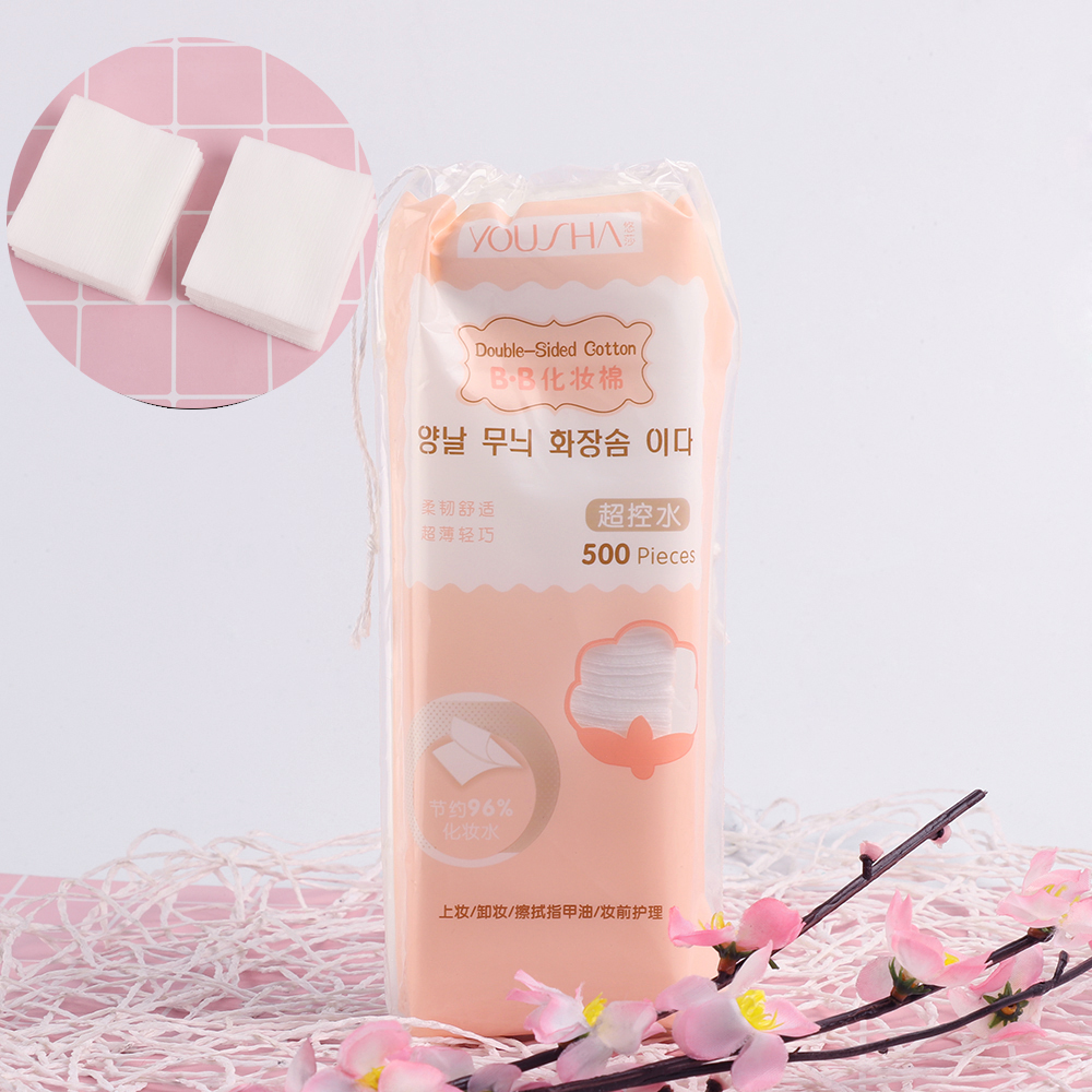 500Pcs/Bag Korean Facial Organic Cotton Pads Facial Cleaning Nail Polish Remover Cosmetic Tissue Makeup Beauty Skin Care Tools