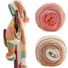 Crochet Scarf Sweater Thick Yarn Hand-Knitting Soft 100g Solid/rainbow-Color for Warm