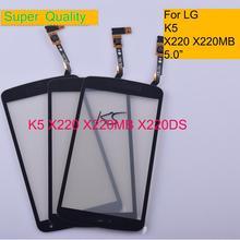 10 قطعة/الوحدة K5 ل LG K5 X220 X220MB X220DS شاشة اللمس لوحة اللمس الاستشعار محول الأرقام الزجاج الأمامي الخارجي عدسة لمس لا LCD