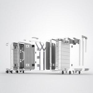 Image 5 - 스피너 휠 수하물 여행용 가방 20 인치 캐리 온 Y 벨트 풀로드 탑 그레이드 올 알루미늄 마그네슘 합금