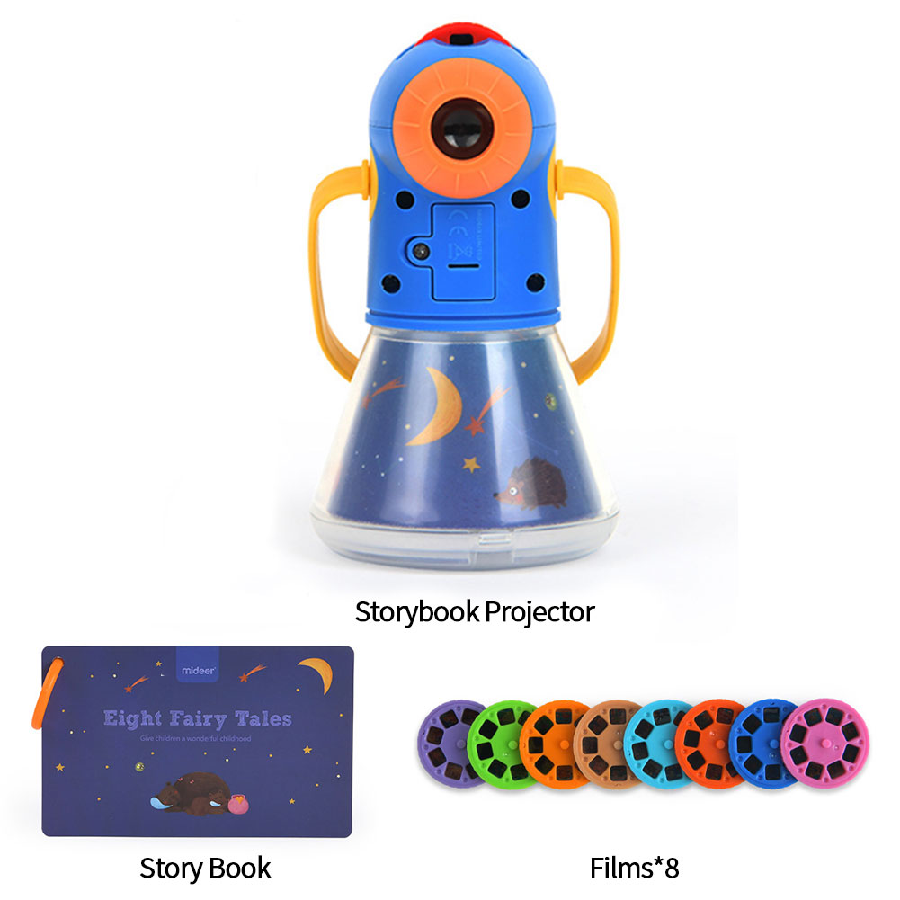 4 In 1 Starry Sky Night Light Portable Kids Toy Storybook Projector Rotating Film Sleep Lamp Birthday Gift Multifunctional