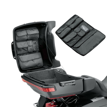 For Harley Glide Touring Street GLIDE FLHX Road King FLHR's Black Tour Pak motorcycle storage box lid storage bag 2014-2019 motorcycle tour pak rear speaker for harley touring street glide road king 2014 2015 2016 2017 page 1