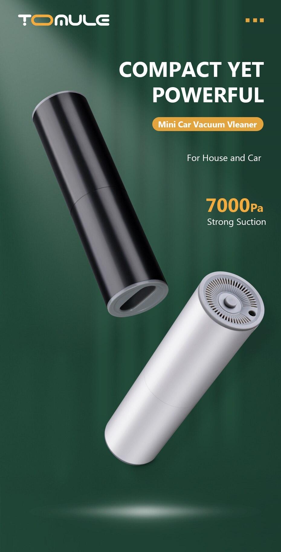 Aspirapolvere portatile senza fili per auto