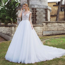 Скромное платье трапециевидной формы свадебные платья 2021 с