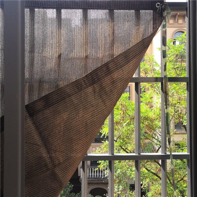 Высокое качество 6 иглы толстый кофе цвет сад тенты парус балкон во дворе солнечные укрытия Сетчатое покрытие для крыши машины тент