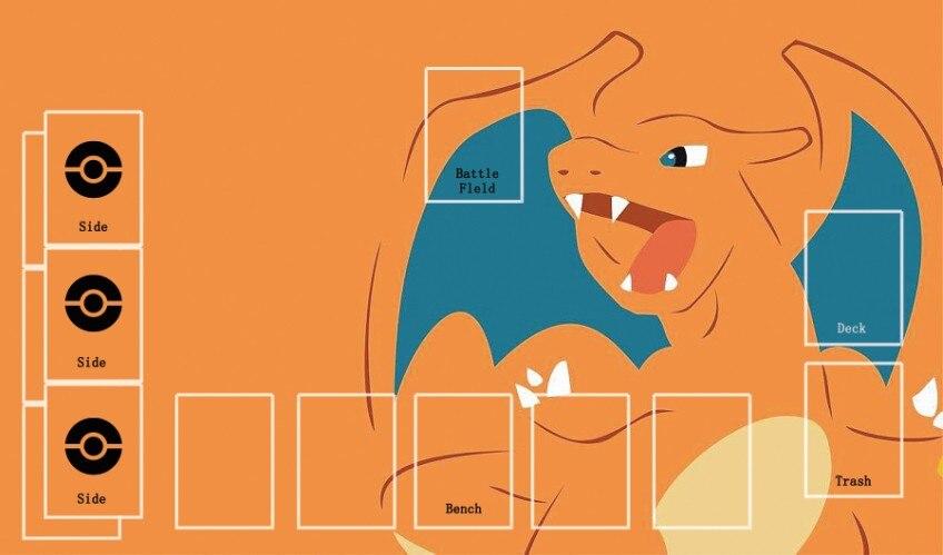 Takara Tomy PTCG Accessories Pokemon Card Board Game Playmate Charizard Toys For Children