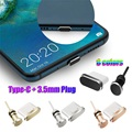 2 шт./компл. комплект противопылевых заглушек USB Type-C порт и разъем для наушников 3,5 мм для Xiaomi Huawei P20 Samsung Galaxy S9 S10 Plus