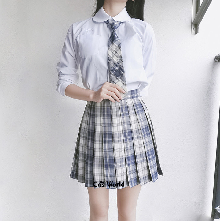 [Gentle Knife] Girl's Japanese Summer High Waist Pleated Skirt Plaid Skirts Women Dress For JK School Uniform Students Cloths
