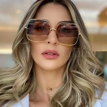 High Quality Luxury Square Sunglasses Women Classic Brand Su