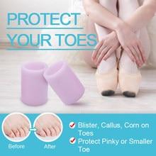 1 Pairs palec u nogi Protector żelowa obudowa z silikonu Cap ulga w bólu zapobieganie pęcherze odciski paznokci narzędzia pielęgnacja stóp separatory palców