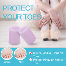 1 paar Finger Kappe Beschützer Silikon Gel Abdeckung Kappe Schmerzen Relief Verhindert Blasen Hühneraugen Nagel Werkzeuge Fußpflege Zehe Separatoren