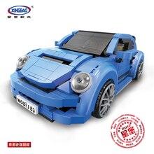 цена на Xingbao 03015 Creative MOC The BEETLE Car Set Model Kit Educational Building Blocks Bricks Fit Legoingly Toys for Children Gifts