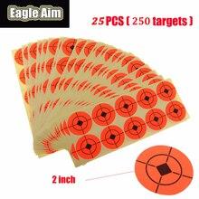 Target Shooting Paper 1.57 / 2 Cal x 250Pcs pomarańczowy fluorescencyjny samoprzylepny okrągły papier docelowy do paintballa