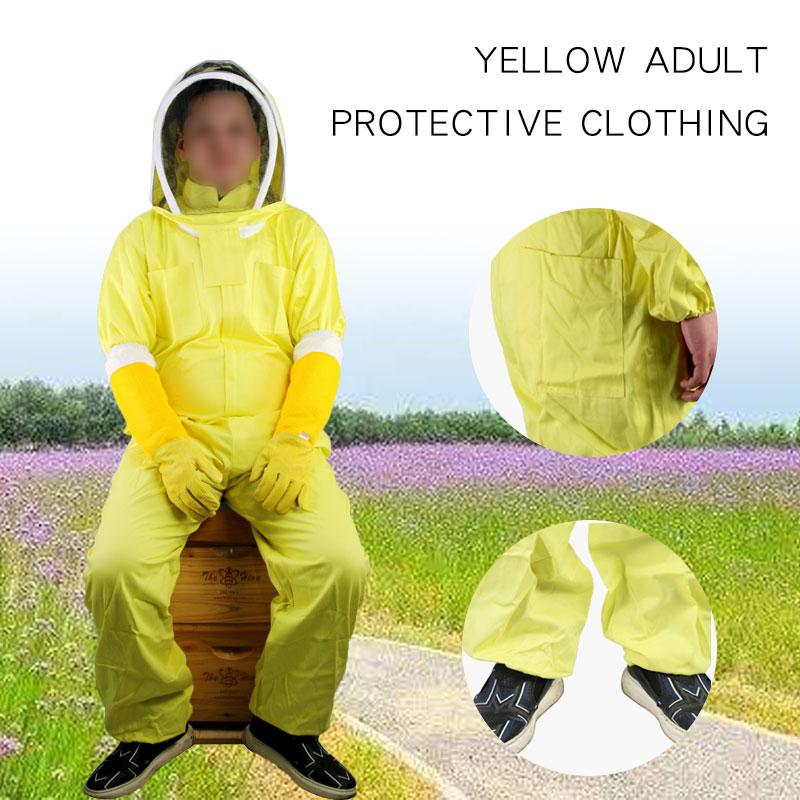 Cotton Full Body Beekeeping Clothing Veil Hood Hat Anti-Bee Coat Protective Clothing Beekeeping Bee Suit Equipment