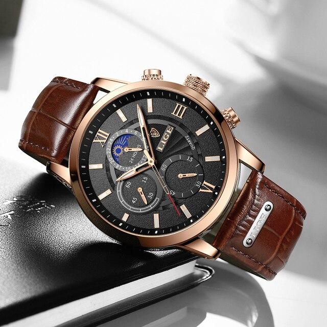 2021 nuevos relojes para hombre en este momento superior de la marca de lujo de cuero reloj de cuarzo Casual de los hombres deporte impermeable reloj Relogio Masculino + caja 2