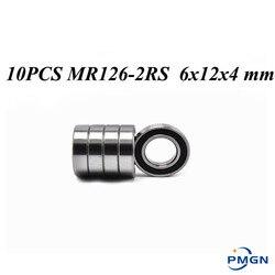 10 шт. ABEC-5 MR126-2RS MR126 2RS MR126 RS MR126RS 6x12x4 мм Резиновый Герметичный миниатюрный высококачественный глубокий шаровой подшипник