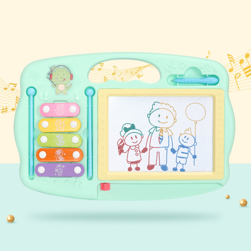 New Products Graffiti Wipable Children Painted Writing Board Multi-functional ENLIGHTEN Toy Color Toy Piano Magnetic Drawing Boa