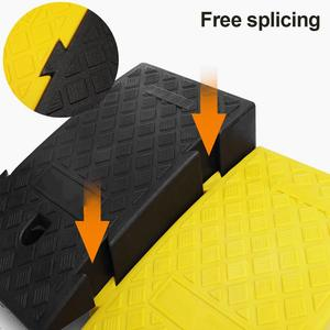Portable Lightweight Curb Ramps Heavy Duty Plastic Threshold Ramp Kit for Car Trailer Truck Bike Motorcycle Driveway Loading(China)