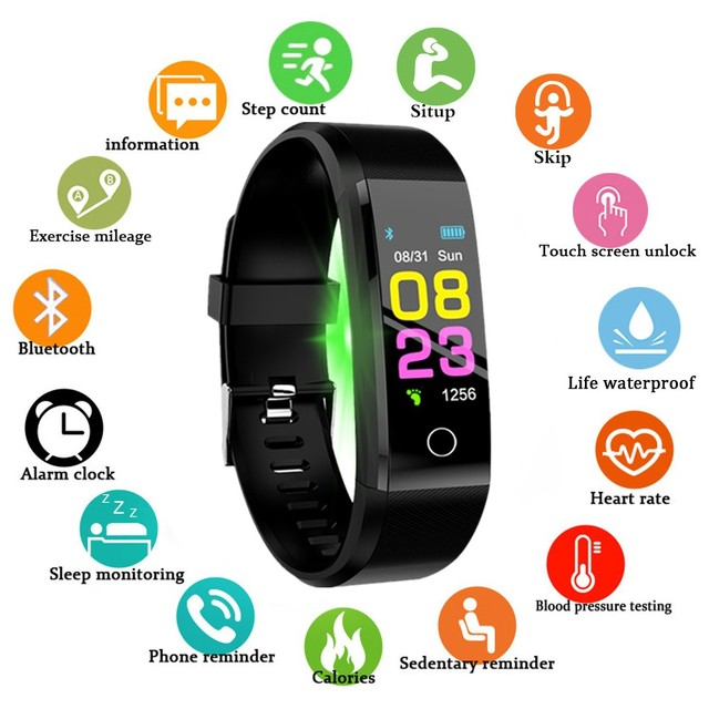 New bluetooth Smart Watch Men Women Heart Rate Monitor Blood Pressure Fitness Tracker Smartwatch Sport Watch for ios android