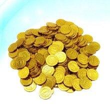 100 шт., золотые монеты, валюта, реквизит для игры, чипы, игровой набор, подарки для вечеривечерние, Биткоин для детей (Золотой)