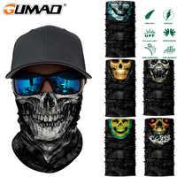 3D sin costuras Camo Skull Magic Neck Gaiter cara máscara cabeza escudo deporte Camping ciclismo pesca Bandana diadema bufanda hombres mujeres