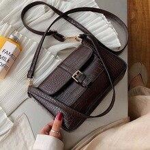 Belt Designer Pu Leather Crossbody Bags For Women 2020 Shoulder Simple Bag Lady Stone Pattern Travel Handbags and Purse
