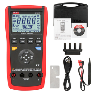 UNIT UT611 UT612 capacitance meter LCR frequency resistance multimeter dual digital liquid crystal display inductance tester