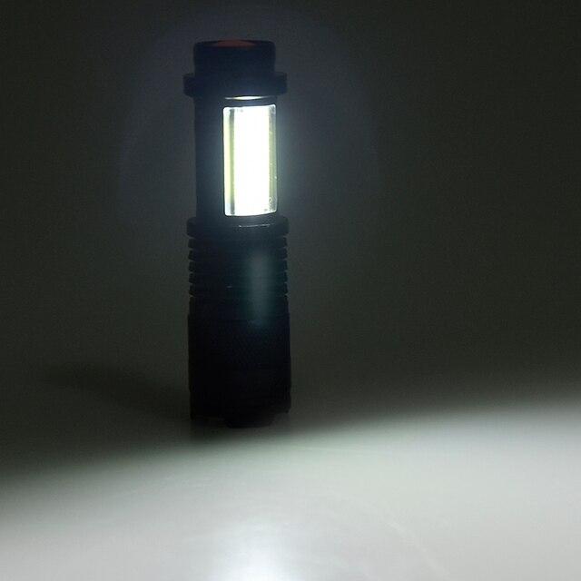 Built in battery XP-G Q5 Zoom Focus Mini led Flashlight Torch Lamp Lantern 2000 Lumen Adjustable Penlight Waterproof T6 light 5