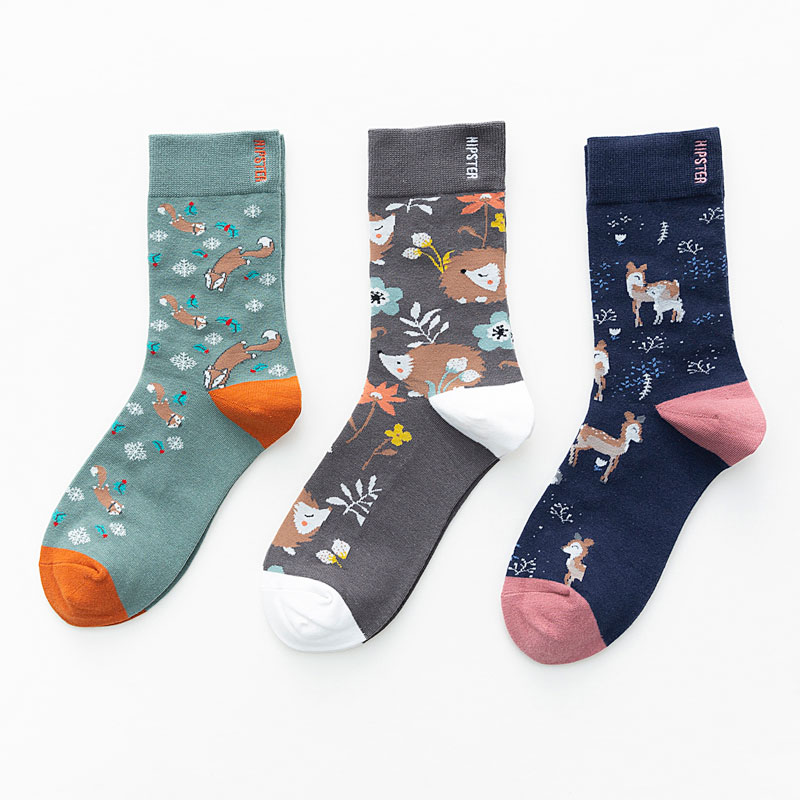 Unisex Painting Style Women Socks 100 Cotton Harajuku Colorful Full Socks Women Standard Streetwear 1 Pair Size 35-43