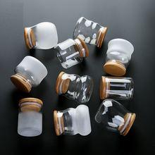 Стеклянные мини бутылки с крышкой прозрачный стеклянный контейнер