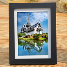 A4 Black Photo frame Simulation Wood Plastic Photo Frame For 24*32.7cm Picture , Complete A4 frame With Glass , Hardboard Back наклейка complete stickers 018 a4