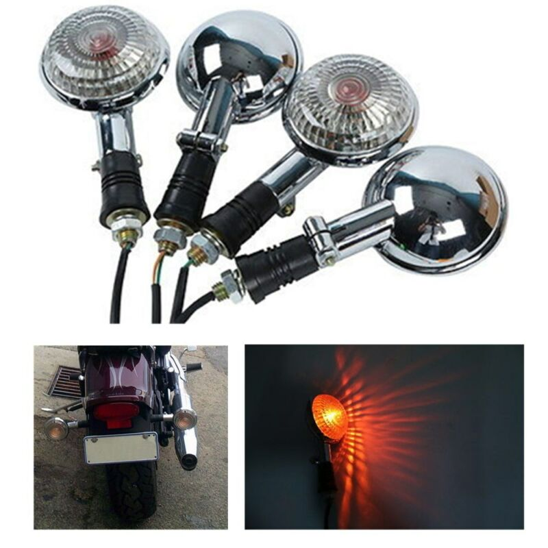 Motorcycle Turn Signal Indicator Blinker Amber Light For Yamaha XV535 XV920 Virago XVS650 V-Star XVS400 xvs1100 VMAX1200