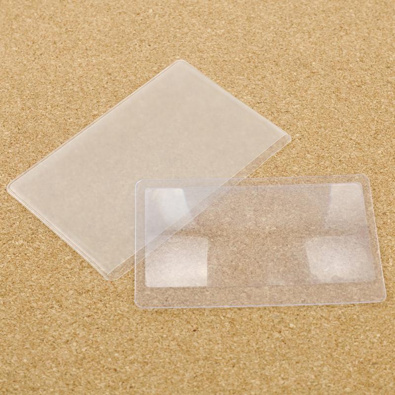 1/10PCS Plastic Magnifier Reading Magnifying Glasses Lens Pocket Magnifier Transparent Magnifying Glass