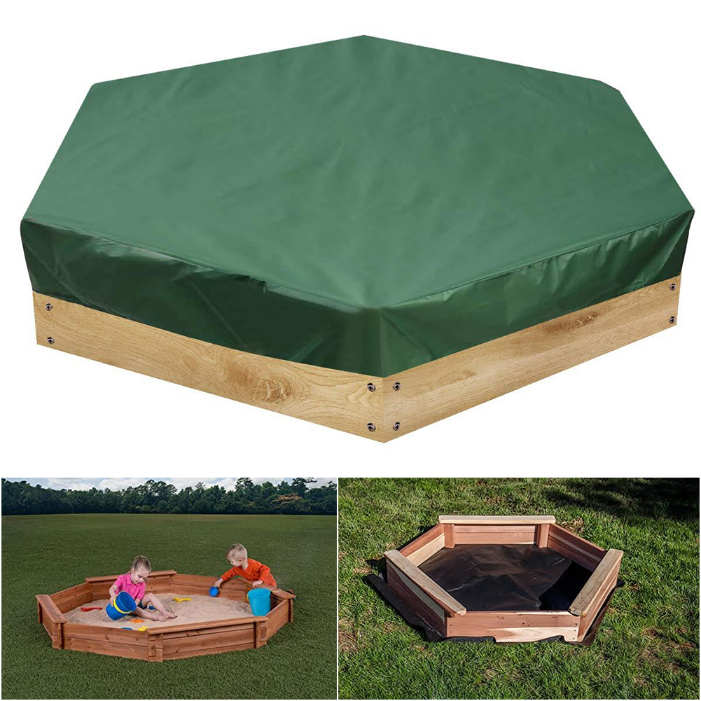 3Sizes Hexagonal Waterproof Rain Snow Oxford Cloth Dust Cover Canopy Drawstring Sandbox Sandpit Dustproof Cover Patio Garden