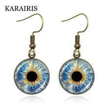 Karairis 18 мм Круглые Стеклянные Кабошоны висячие серьги глаза