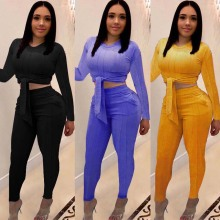 цена на 2019 sexy slim straps round neck three-color two-piece nightclub suit  Plus Size Two Piece Outfits 2 Piece Club Outfits
