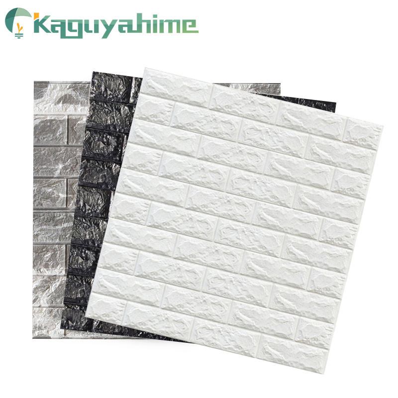 Kaguyahime 3D Wallpaper Brick DIY Stickers Self-Adhesive TV Backdrop Decor For Kids Room Kitchen Waterproof Wall Decor Sticker