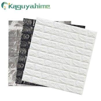Kaguyahime 3D Wallpaper Brick DIY Stickers Self-Adhesive TV Backdrop Decor For Kids Room Kitchen Waterproof Wall Decor Sticker
