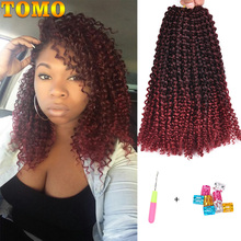 TOMO Marley Braids Kinky Twist Hair Extensions Synthetic Marlybob Crochet Hair Short Jerry Curly Crochet Braiding Hair 24Strands cheap Low Temperature Fiber CN(Origin) 24strands pack Ombre