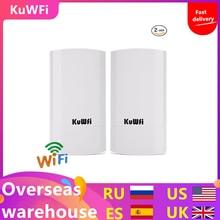125/5000 2PCS / Lot 300Mbps Wireless CPE Outdoor 1KM P2P Wireless Bridge / Wifi Repeater Admite la función WDS Sin configuración con pantalla LED