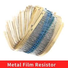 2500Pcs 1% 1/4W 0.25W Metal Film Resistor 50 Values Assortment Kit 1Ω~10MΩ Range