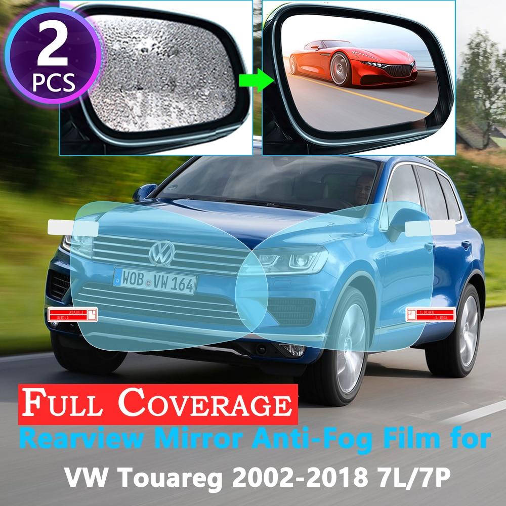 Cubierta completa protectora Anti niebla película para Volkswagen VW Touareg 7L 7P 2002 2018 2017 espejo retrovisor de coche accesorios a prueba de lluvia