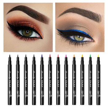 1pc 12 Colors Matte Eyeliner Waterproof Colorful Liquid Eyeliner Pen Long-lasting Eye Liner Pencil Eye Makeup Cosmetic Tools