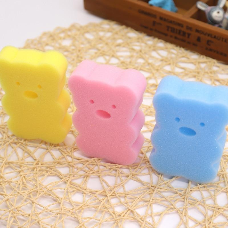 Bear Baby Bath Products Comfortable Baby Bath Wrinkle Sugar Children Bad Cotton Wrinkle Shower Gel