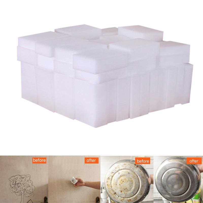 50/20pcs 100*60*20mm White Melamine Sponge Home Clean Sponge Eraser For Kitchen Office Bathroom Dish Cleaning Clean Accessory 20