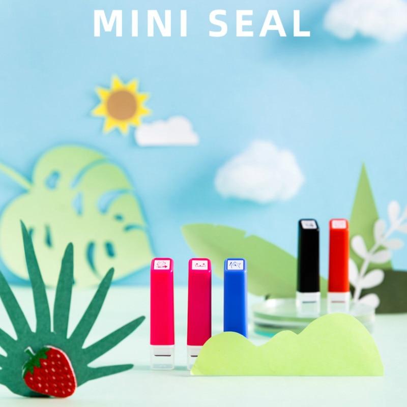 Kawaii Mini Soaked Seal Fun Hand Account Cute Pattern Diy One Seal Hand Account Decoration