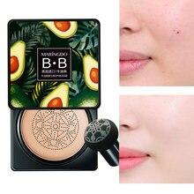 Clareamento almofada de ar bb creme natural maquiagem cosméticos cabeça de cogumelo cc fundação rosto corretivo abacate à prova dwaterproof água tom base p