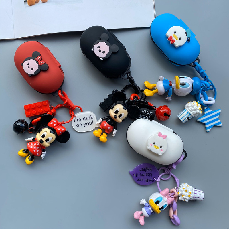 Cartoon Keyring Decor Silicon Cover For Samsung Galaxy Buds 2019 Case Charging Sleeve Wireless Earphone Protective Cover