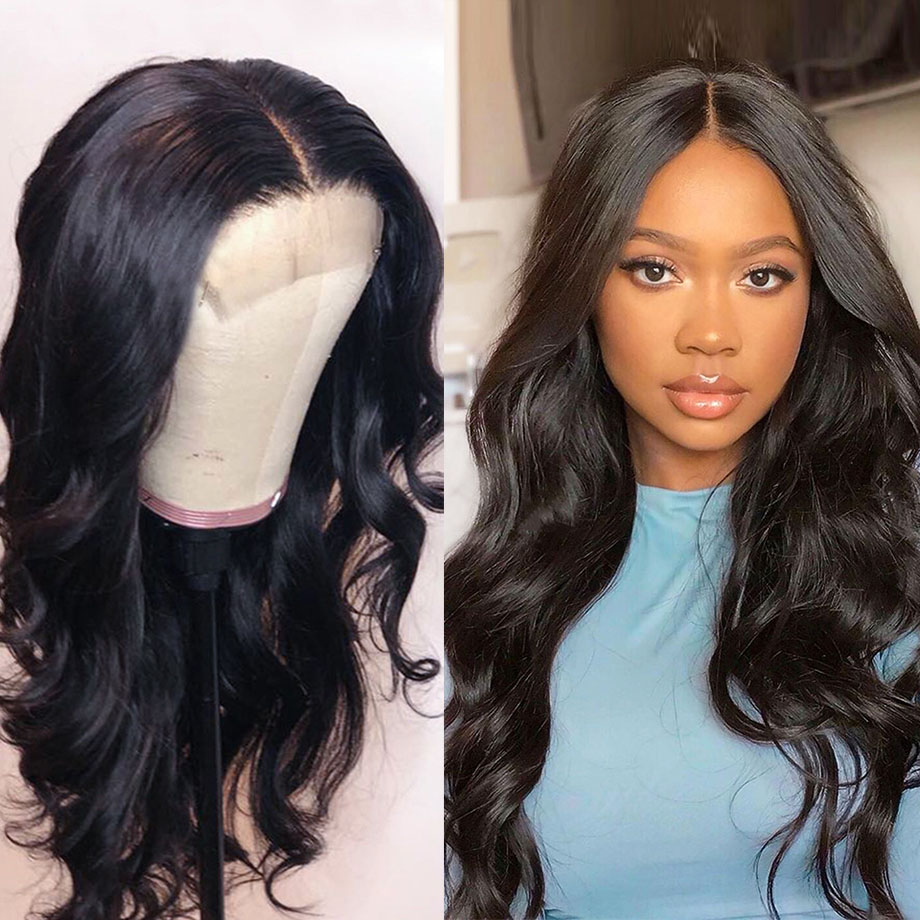 BY Lace Front Human Hair Wigs Body Wave Lace Front Wig Pre Plucked Natural Hairline 150% Density Human Hair Wigs For Black Women